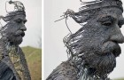Questo artista realizza sculture di personaggi storici utilizzando materiali industriali come il ferro e l'acciaio