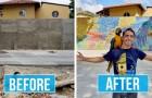 Un ragazzo di 23 anni ha realizzato il murales più grande del suo tipo in Venezuela usando 200.000 tappi di plastica