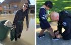 10 rörande bilder som visar styrkan i en vänlig gest