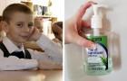 Een student werd door de school gestraft nadat hij zijn klasgenoten had laten betalen om zijn ontsmettingsmiddel te gebruiken