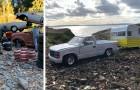Ein autistischer Junge verewigt seine Modellautos, als ob sie lebensgroß wären...