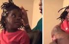 Una niña llora frente a un espejo y dice