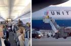 Eine Gruppe von Passagieren erzwang die Umleitung eines Flugzeugs, weil einer der Passagiere hustete und nieste...
