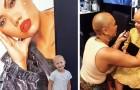 Een meisje met alopecia fleurt op als ze een advertentie ziet met een model zonder haar