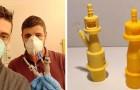 Coronavirus, in Brescia zijn er bijna geen ventielen voor beademingsapparaten meer: een team van wetenschappers print ze in een paar uur in 3D
