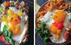 Una mamma giapponese usa le uova fritte per