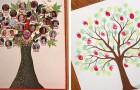 8 modi semplici e divertenti per realizzare un originale albero di famiglia insieme ai bambini