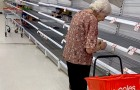 Coronavirus: an image of an elderly woman standing in an aisle of empty shelves paints a sad picture of how panick buying is affecting the elderly