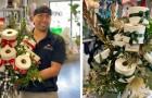 Un fleuriste confectionne des bouquets de papier toilette pour ironiser sur la demande croissante de ce produit