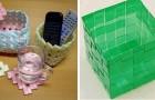 4 metodi creativi per riciclare oggetti di plastica e intrecciare comodi cestini
