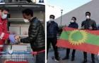 La comunità etiope di Milano dona scorte di cibo alla Croce Rossa: