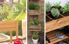 17 ottimi spunti per creare un orto sul balcone con pallet, vasi, e non solo
