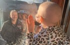 La niña con un tumor que saluda al papá desde la ventana simboliza la importancia del aislamiento contra el Covid