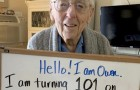 He can't celebrate 101 years because of Coronavirus: so he asks friends from social networks to give him 101