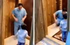 Un médico rechaza el abrazo del hijo por miedo del Coronavirus, luego estalla en lágrimas: el doble drama de los médicos