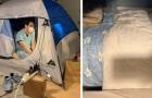 Dieser Arzt schläft in einem Camping-Zelt in der Garage, um seine Familie vor Covid-19 zu schützen