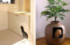 9 trovate ingegnose per nascondere le lettiere dei gatti inserendole nell'arredamento di casa