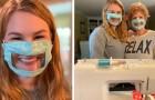 Una studentessa ha ideato delle mascherine trasparenti per agevolare la comunicazione delle persone sorde