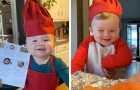 This 1 year old is already a little chef who enjoys giving cooking