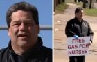Un homme utilise ses économies pour offrir de l'essence aux médecins et aux infirmiers :