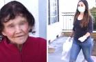Een bejaarde vrouw in isolatie sluit vriendschap met het meisje dat haar de boodschappen geeft: