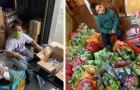 Um menino de 7 anos decide usar as suas economias para ajudar os idosos do seu bairro a fazerem compras