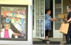 Am 102. Geburtstag in der Isolation, aber ein Polizist kauft ihr eine Torte und liefert sie zu ihr nach Hause