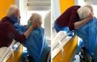 Dois cônjuges casados há 52 anos e separados pelo Coronavírus se reúnem em um abraço emocionante