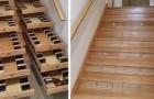Un uomo trasforma le scale di casa in una