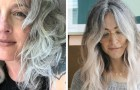 De plus en plus de femmes renoncent aux couleurs pour montrer leur belle couleur naturelle : le blanc et le gris deviennent tendance