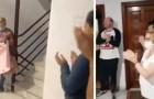 Una enfermera regresa a su casa y encuentra a todos los vecinos aplaudiendo en las escaleras: