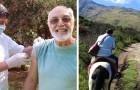 Een 61-jarige verpleegkundige rijdt kilometers te paard om ouderen te vaccineren en te behandelen