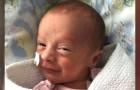Peyton, het te vroeg geboren meisje dat op de leeftijd van slechts 3 weken oud het coronavirus versloeg