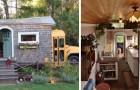 Une famille achète un bus scolaire et le transforme en un magnifique cottage : un mini mobile home aux allures de conte de fées