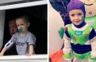 A kid with cancer has spent 3 years at home looking at the world from a window: now he can finally go out