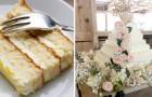 Usando bolos baratos, um casal de futuros cônjuges conseguiu criar um maravilhoso bolo de casamento por apenas 50 dólares