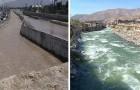 Perù: le acque di un fiume densamente inquinato tornano cristalline a causa della quarantena