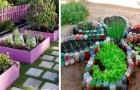 10 idées géniales pour rendre votre potager aussi coloré et fleuri qu'un jardin, en utilisant des matériaux recyclés