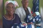 Efter att ha försökt i många år blev hon äntligen mamma vid 68-års ålder och födde två vackra tvillingar