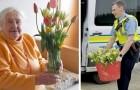 Met behulp van de lokale politie besluit een bloemiste onverkochte tulpen te schenken aan patiënten in verpleeghuizen