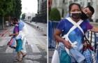 Sie muss mit ihrem schwerbehinderten Sohn betteln gehen, um die Miete zu bezahlen