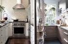 12 praktische en stijlvolle suggesties voor het interieur om de ruimte in een kleine keuken optimaal te benutten