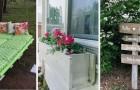 10 trovate originali per riciclare i pallet e arredare il giardino con tavoli, fioriere e molto altro