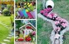 20 idee facili e super economiche per trasformare vasi e oggetti in disuso in decorazioni per il giardino