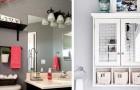 20 modi ingegnosi e originali per salvare tanto spazio all'interno del vostro bagno