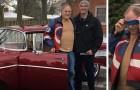 Le petit-fils restaure en secret la vieille voiture de son grand-père : lorsqu'il la lui montre, il s'évanouit presque de joie