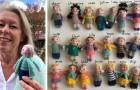 En lärare virkar 23 söta små dockor som representerar hennes elever under pandemin
