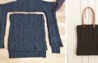 Il metodo semplice per trasformare un vecchio maglione di lana in una fantastica borsa
