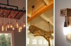 13 soluzioni super-creative per realizzare strepitosi lampadari con il legno dei pallet