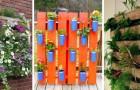10 progetti semplici per realizzare incantevoli fioriere verticali con i pallet